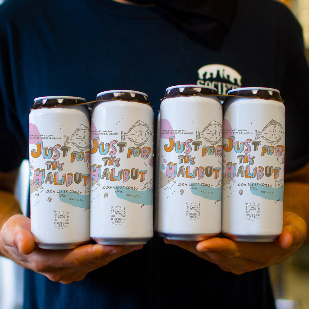 Just For The Halibut - DDH West Coast IPA (4-pack of 16 oz cans)