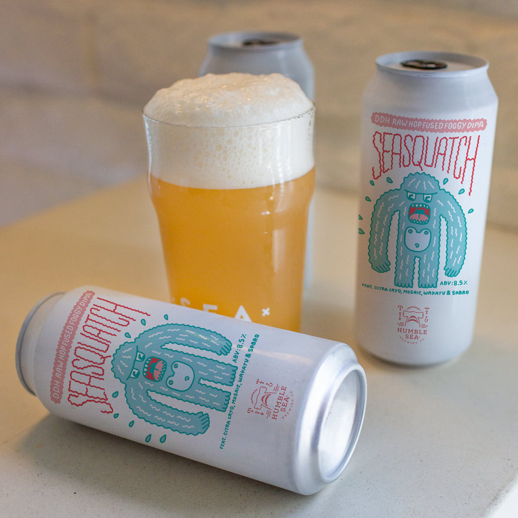 Seasquatch - Raw Hop Fused Foggy DIPA (4-pack of 16 oz cans)