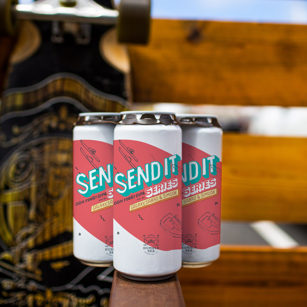 Send It Series: Galaxy, Sabro, and Simcoe - DDH Foggy DIPA (4-pack of 16oz cans)