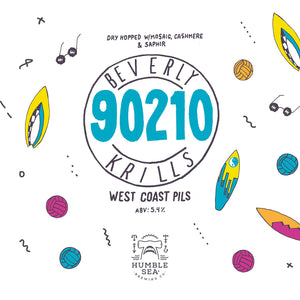 Beverly Krills 90210 - West Coast Pils (4-pack of 16 oz cans)