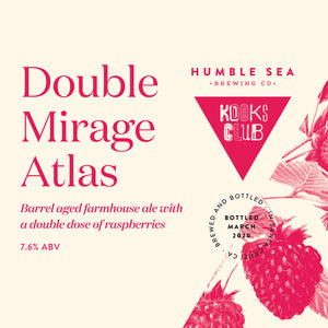 Kooks Club Double Mirage Atlas - Barrel Aged Farmhouse Ale With A Double Dose of Raspberries (Two 500mL bottles)