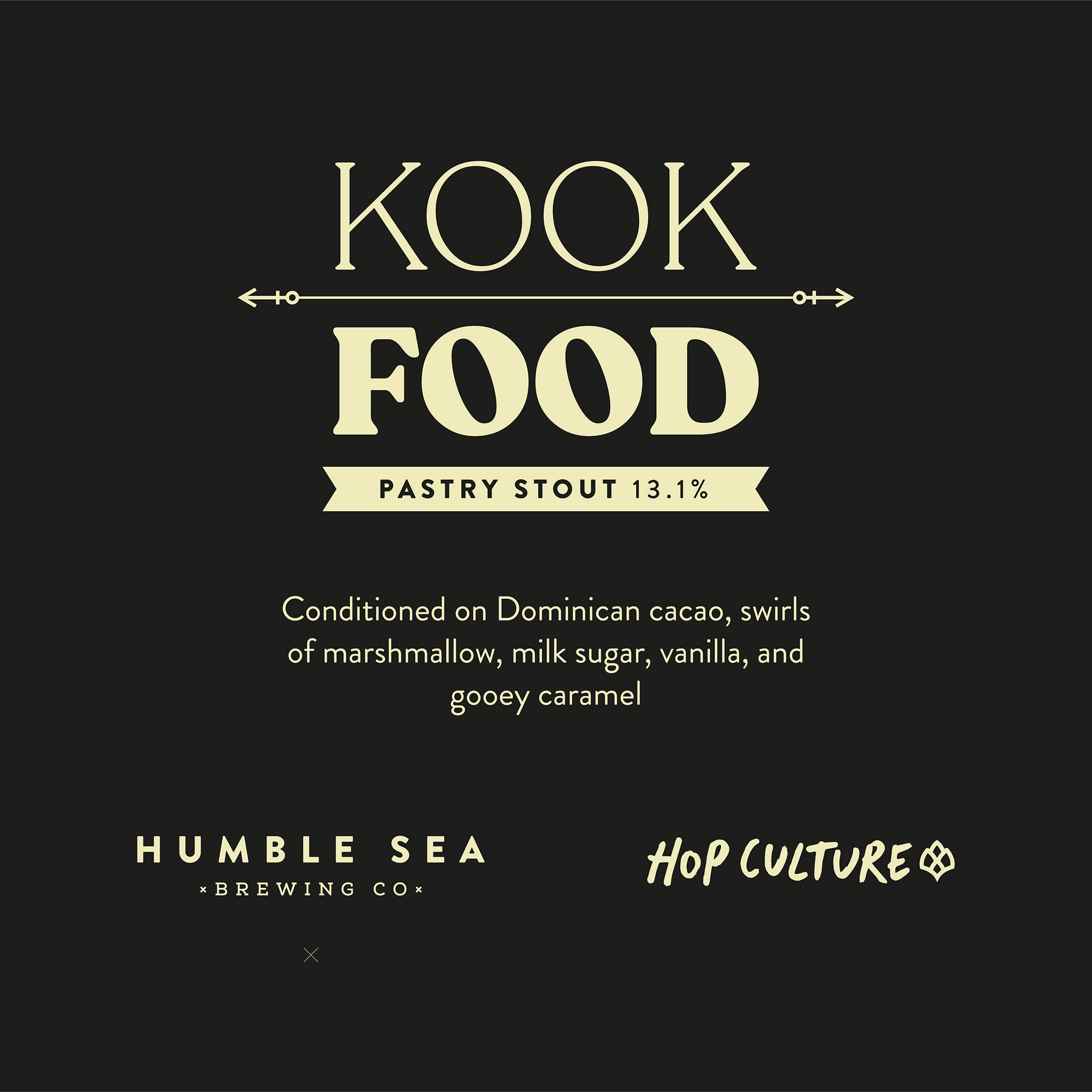 Kook Food - Pastry Stout Collab with Hop Culture Mag (one 550ml bottle)