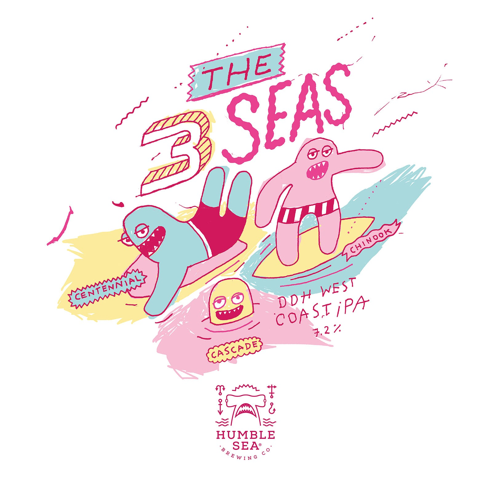 The 3 Seas - West Coast IPA (4-pack of 16oz cans)