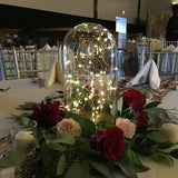 Glass ball filled with fairy lights @elloirevents