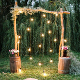 archway with dangling lights @elloirevents