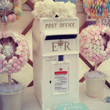 white letterbox decorated with flowers @elloirevents