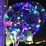 multicolored LED light up balloons @elloirevents