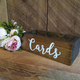 wooden rustic box for letters at events @elloirevents