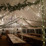 rustic warm lighting for wedding hire @elloirevents