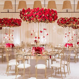 Large red halo table decorations @elloirevents