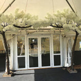 white outdoor blossom trees decorations @elloirevents