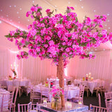bright hot pink blossom tree centrepieces @elloirevents