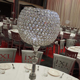 Diamond crystal jewelled candle holder @elloirevents