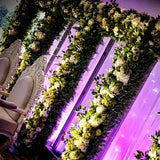 white and green arch flower walls @elloirevents