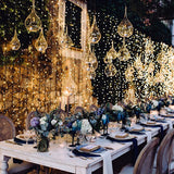 dangling spotted warm fairy lights for hire @elloirevents
