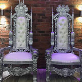 Bride and Groom chairs for wedding reception @elloirevents