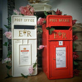 Red and white postboxes/letterboxes for hire @elloirevents