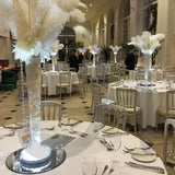 Classy elegant ostrich feather table decorations @elloirevents