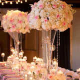Pink and white wedding decorations @elloirevents