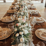 long table floral decorations @elloirevents