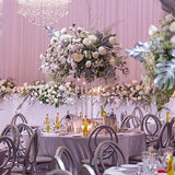 Free standing silver table decorations @elloirevents