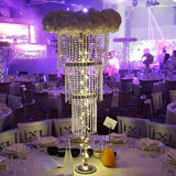 crystal diamant chandelier table decorations @elloirevents