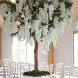 Green and white tree wedding decorations @elloirevents