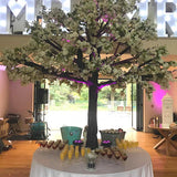 Large white table tree decorations @elloirevents