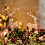 gold glitter reindeer decorations xmas party events hire @elloirevents