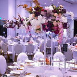 Dripping floral multicoloured decorations @elloirevents