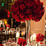 Red and gold theme decorations @elloirevents