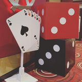 las vegas cards event theme props @elloirevents
