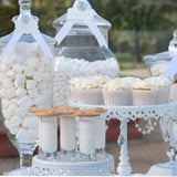 White vintage candy sweetie theme tables for events party hire @elloirevents