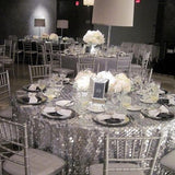 Silver lamp table centerpieces @elloirevents