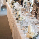 Vases filled with candles @elloirevents