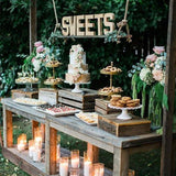 rustic sweetie table decorations for hire Outdoor sweetie table @elloirevents