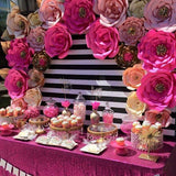 pink floral sweetie table decorations @elloirevents