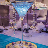 martini glasses decorations filled with orbeez/water balls @elloirevents