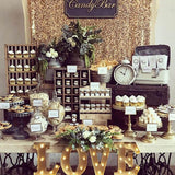 Black & gold glitter table decorations @elloirevents