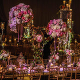 floral 6ft table decorations @elloirevents