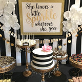 black and white vintage old fashioned cake and sweetie table hire @elloirevents