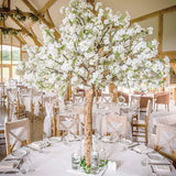 white floral blossom tree table centrepieces @elloirevents