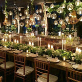 dangling candles for events hire @elloirevents