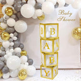Baby shower gold cubes decorations @elloirevents