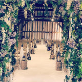 wedding ceremony walkways decorators @elloirevents