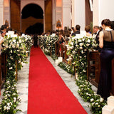 red carpet church wedding walkways decorators @elloirevents