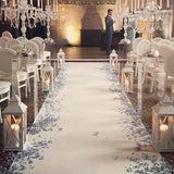 white wedding ceremony walkways @elloirevents