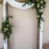Plain archway floral wedding decorations @elloirevents