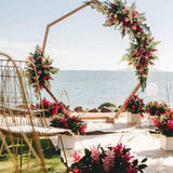 Pentagon archway beach wedding ceremony @elloirevents