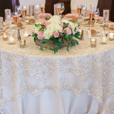 gold lace delicate table covers for hire @elloirevents